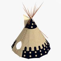maya indian teepee