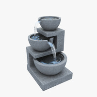 3d small fountain water