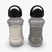 salt pepper shaker set 3d 3ds