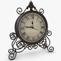 3d model classic table clock