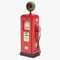 3d model gas pump 6