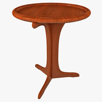 3d crafted walnut table model