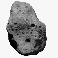 asteroid meteoroid rock 3d model