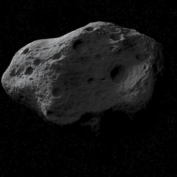 Asteroid 3D Rendered - Pics about space