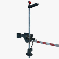 3d railroad fence arm -