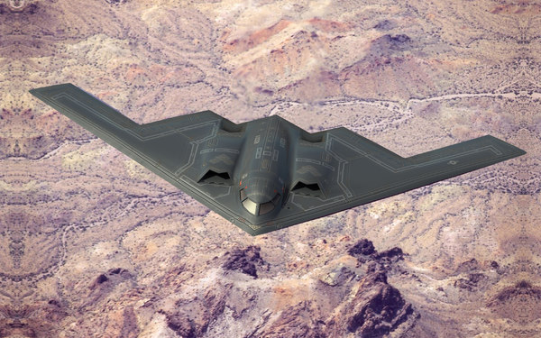 3d model b2 stealth bomber bombs