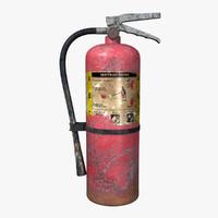 3d old extinguisher