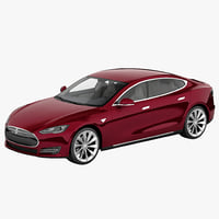 3ds tesla s 2014 modeled