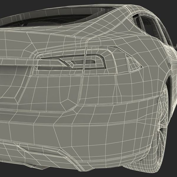 3ds tesla s 2014 modeled - Tesla Model S 2014... by 3d_molier