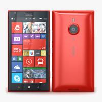 nokia lumia 1520 red 3d model