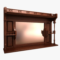 wall bottle shelf 3d max