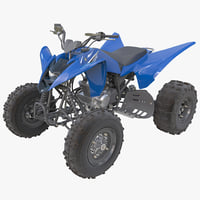 3d sport atv yamaha raptor model