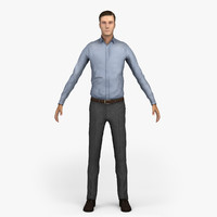 PEOPLE - LOW POLY MAN CHARACTER 01