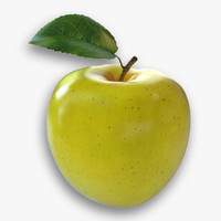 3d yellow apple model