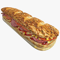 bmt sandwich 3d obj