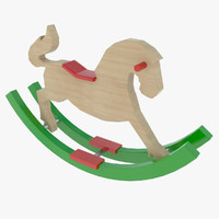 3d 3ds toy rocking horse