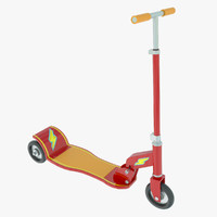 toy scooter 3d model