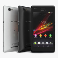 3d model sony xperia m black