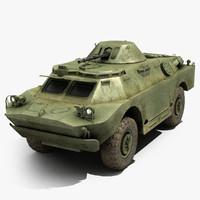 3d model russian brdm-2