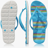 flip flops 3d max