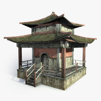 3ds max mongolian temple