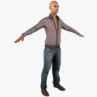 3d model of young white male casual