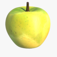 3d max apple fruit