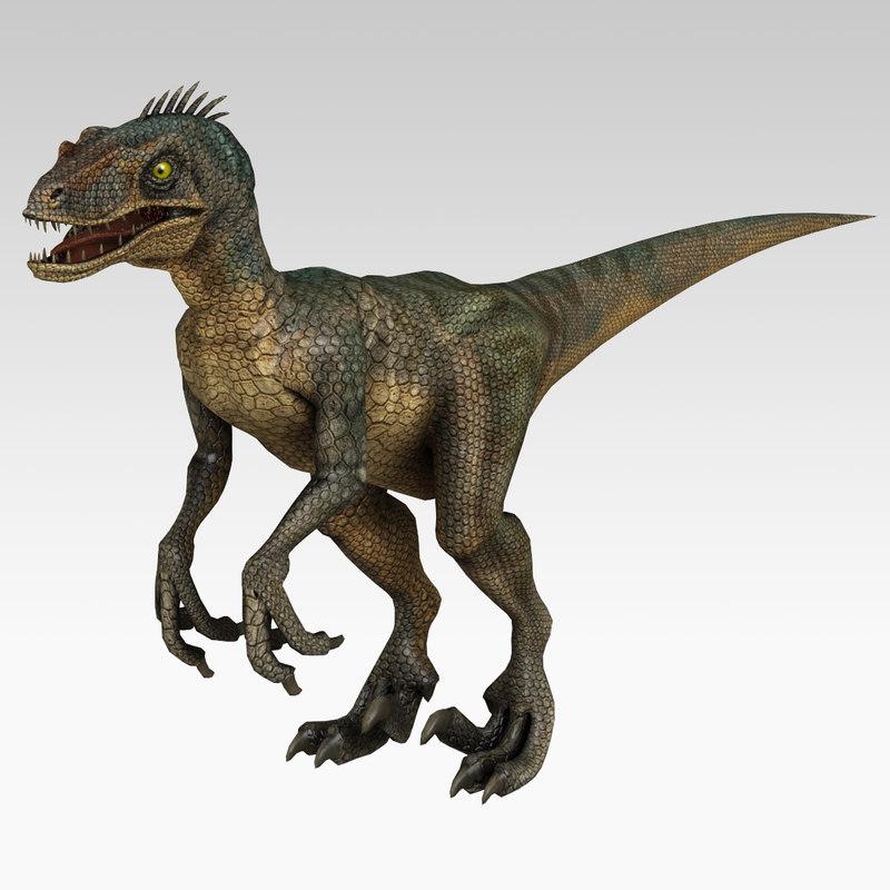 3d 3ds Velociraptor Dinosaur Animation