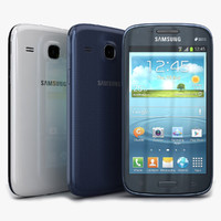 samsung galaxy core blue 3d max