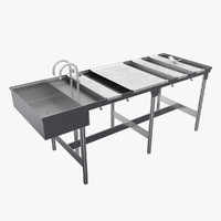 medical autopsy table 3d max
