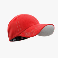 - cap red white 3d model