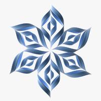 3d max snowflake paper