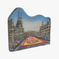 brussels belgium magnet souvenir 3ds
