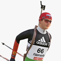 3ds max olympic biathlon player