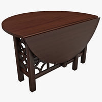 gate leg table howard 3d model