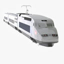 passenger train 3D models
