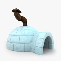 3d igloo cartoon model