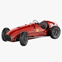 Ferrari 166 F2 Italy Race Car Rigged