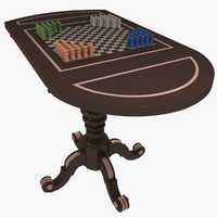 gambling table 3d max