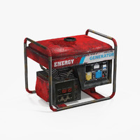 3d old gasoline generator model