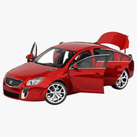 3d buick regal 2014 rigged car