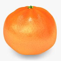 mandarine orange 3d max