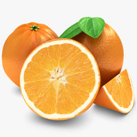 orange fruit 3d obj