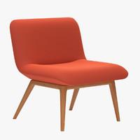 november lounge seating wood chair 3d obj