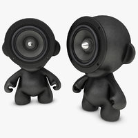 realistic munny doll speakers 3d obj