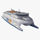 shuttle boat 3D models