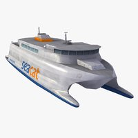 seacat ferry 3d model