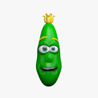 maya cartoon character cucumber