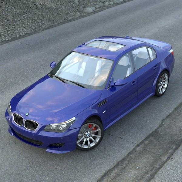 M5 E60: Bmw M5 E60 Interior Car 3d Model