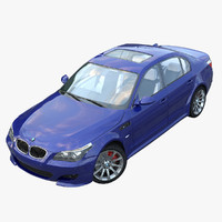 bmw m5 e60 interior car 3d model